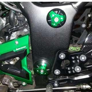 Kawasaki Ninja 250 300 Ninja250 Ninja300 frame bolt screw silders CNC alloy body grey silver red gold green blue