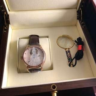 萬希泉 (MEMORIGIN)陀飛輪腕錶機械表雕刻系列觀音表面情侶手錶機芯刻字觀音表(男裝)