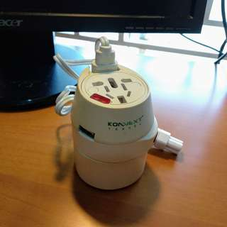 Konnext Universal Travel Adapter + USB Charger