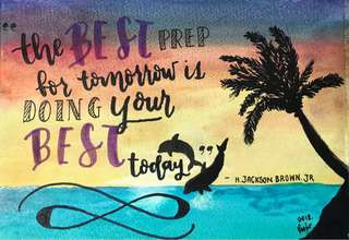 Inspirational Quote Watercolor painting