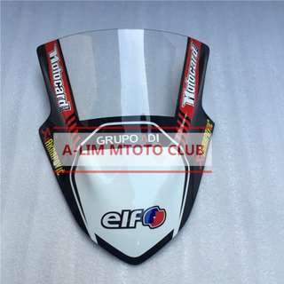Kawasaki racing Ninja 250 300 ninja250 ninja300 windscreen wind screen shield windshield sponsor motocard akrapovic elf