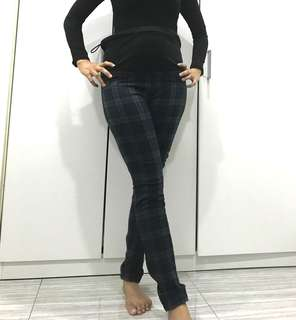 Checkered Maternity Pants