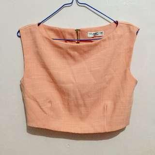 Peach Crop top