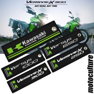 Kawasaki Racing team Versys 1000 650 250 300 versys-X keychain chain key keyring ring embroidery
