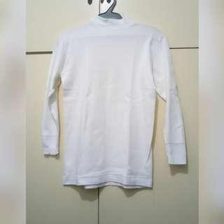 WA697 White Turtleneck Blouse (Small)