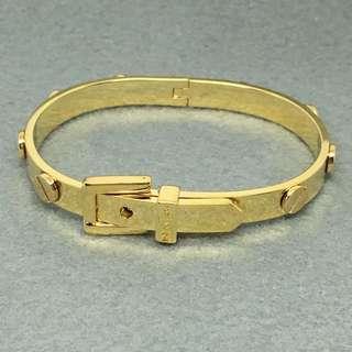 Michael Kors Sample Bangle 金色鍋釘手鈪 直徑4.5×6 cm