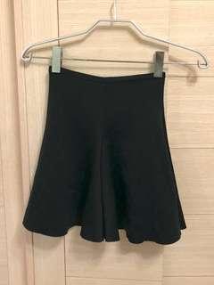 🚚 韓系長腿高腰裙 黑