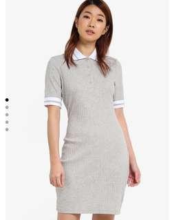 RIB POLO DRESS / DRESS KOREA / SIMPLE DRESS