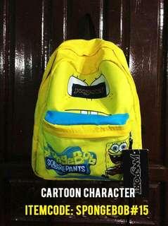 Jansport Superbreak medium Soongebob character bags
