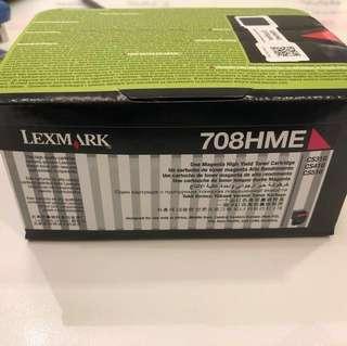Lexmark 708HME Red Return Program  Toner Cartridge