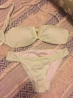 Victoria's Secret mint green small swimsuit
