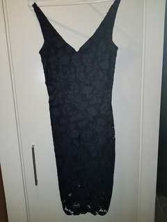 Portmans Signature black and Navy Lace Dress