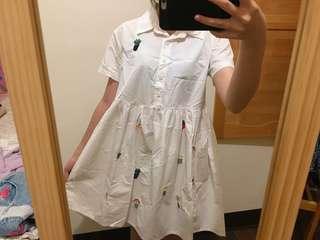 🚚 #刺繡花盆洋裝