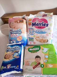 S size Pampers (Merries,Mamypoko,Huggies)