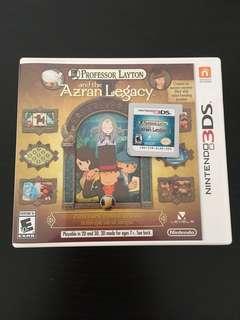Nintendo 3DS Game Professor Layton Azran Legacy