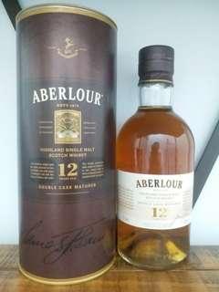 Aberlour  12y single malt scotch whisky 700ml  威士忌