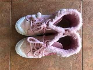 Fluffy Pink HighCut Kids