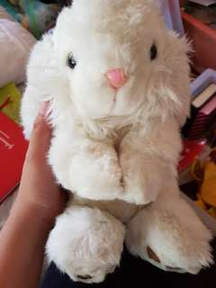 White bunny stuffed toy