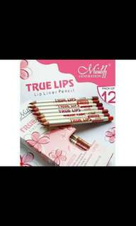 Menow true lip liner pencil set