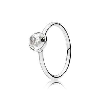 Pandora April Droplet Ring