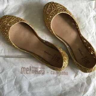 Melissa Campana Gold Flats