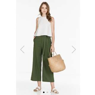 BNWT TCL THEBES PANTS IN OLIVE