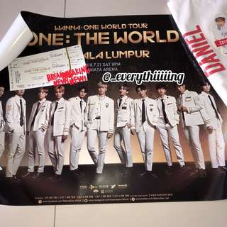 WANNA ONE IN KL CONCERT TICKET RARE SET