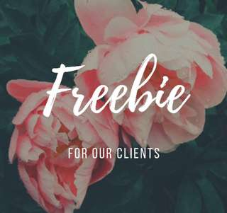 Freebie List for Clients of The Brides' Closet