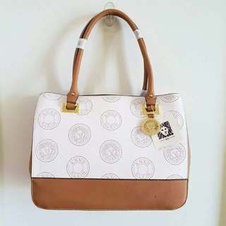 "ANNE KLEIN New Recruits Large Satchel - ""N"""