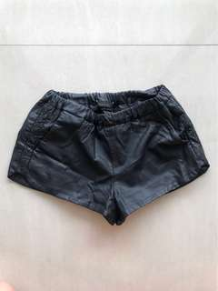 Zara Leather Shorts