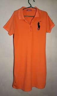 Orange Polo Dress