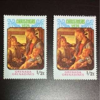 Stamp - Grenada Grenadines 1974 - Christmas (Price per piece $1.20) (MNH)