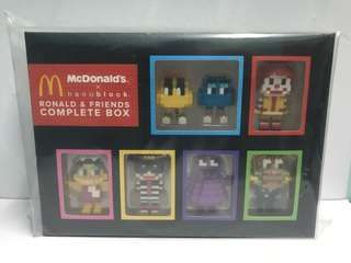 MCD X Nanoblock Ronald & Friends *complete box*