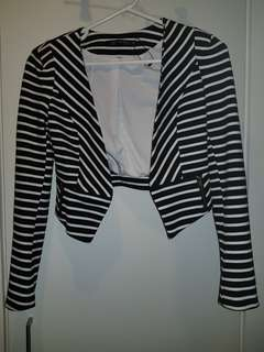Portmans black and white Stripe Jacket - Size 6