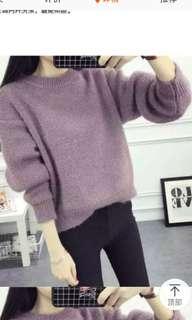 BN Women Winter Purple Short Sweater Pullover