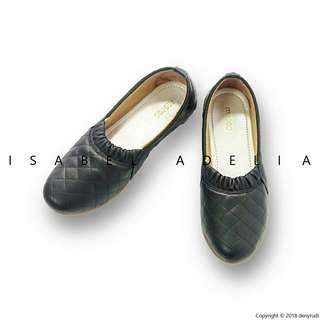 Sepatu hitam Flatshoes wanita