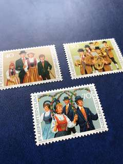 1980 列支敦士登 民族服飾 郵票3全