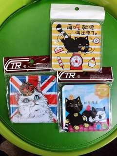 貓貓杯墊(磁石/吸鐵杯墊)台灣製