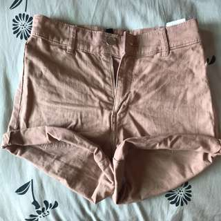 H&M High Waisted Shorts Brown