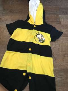 Bee costume romper (1yr old onwards)