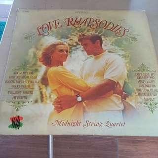 Love Rhapsodies Midnight String Quartet LP Vinyl record