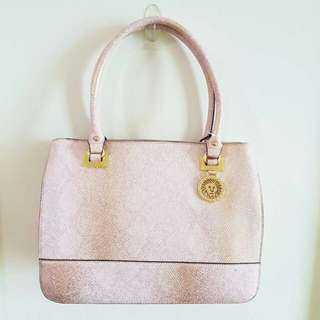 ANNE KLEIN New Recruits Large Satchel - Pink Snake Skin