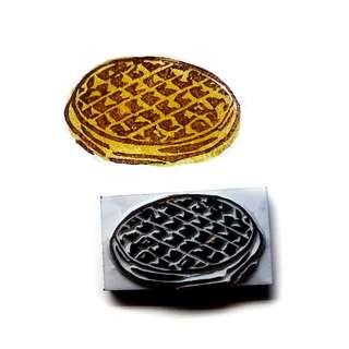 Round waffle stamp