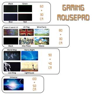 Rubber Gaming Mousepad / Mouse Pad