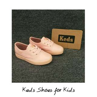 Keds Leather Shoes FOR KIDS (Pink : ONHAND)