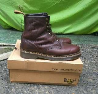 Sepatu boots doctor dr martens docmart 1460 original bark grizzly 2nd mulus murah buat lebaran (not guteninc, brodo)