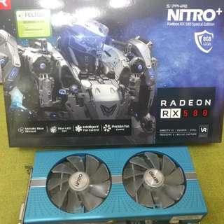 售sapphire Rx580 8gb藍光顯示卡
