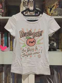 Cotton on peach shirt