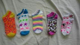 Colorful Ankle Socks Bundle (5 pairs)