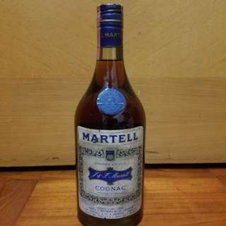 直樽後一期白纸60年代Martell馬爹利三星幹邑cognac 70cl